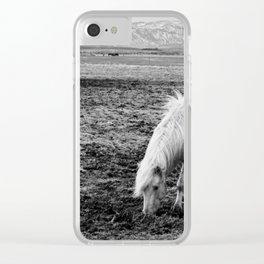 Wild Icelandic Horse Clear iPhone Case