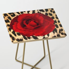 Leopard Rose by Lika Ramati Side Table