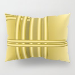 Abstract background with gold bars Pillow Sham