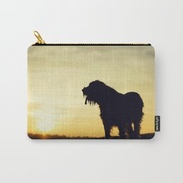 Brown Roan Italian Spinone Dog Sunset Carry-All Pouch