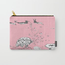 Two Tailed Duck and Jellyfish Baby Pink Deep Carry-All Pouch