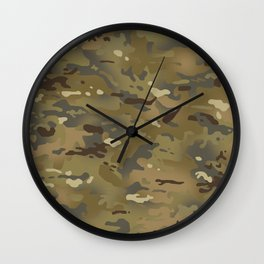 Camouflage: Mud Colors Wall Clock