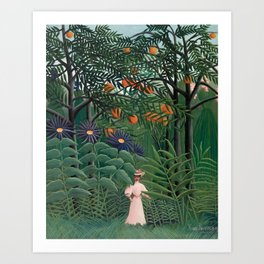 Woman Walking in an Exotic Forest, Henri Rousseau, 1905 Art Print