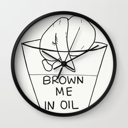 Drowning/ Browning Wall Clock