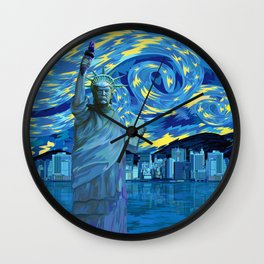 Liberty Parody starry night iPhone 4 5 6 7, ipod, ipad, pillow case and tshirt Wall Clock