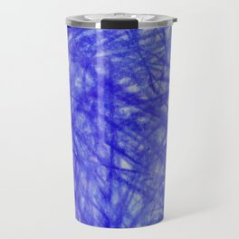 Ophelia Blue Scribble Travel Mug