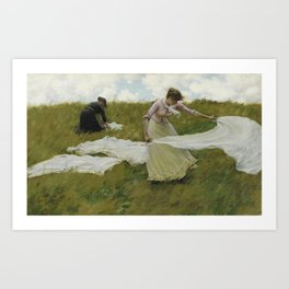 Charles Courtney Curran - A Breezy Day Art Print
