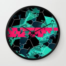 Crushing Contrast Wall Clock
