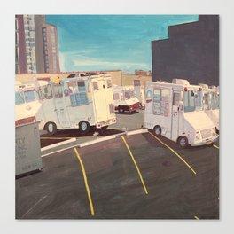 Parking Lot, Queens (Ice Cream Trucks) Canvas Print
