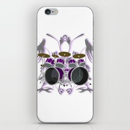 Drum Kit with Tribal Graphics iPhone Skin