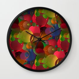 abstract bubbles -1- Wall Clock