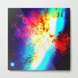 Bright & Colorful Galaxy Messier 82 Metal Print