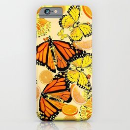 YELLOW MONARCH BUTTERFLY  & ORANGES MARMALADE iPhone Case