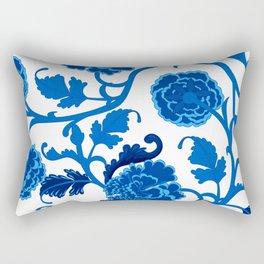 Peonies Oriental Ceramic Rectangular Pillow