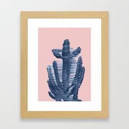 Supersonic Serene Cactus Framed Art Print
