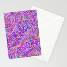 Seamless purple flower pattern Stationery Cards