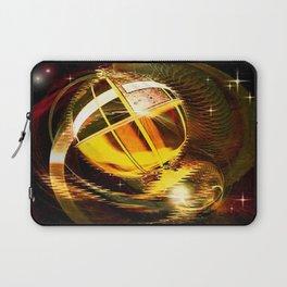 Golden celestial globe. Laptop Sleeve