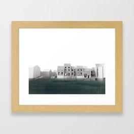 Flood Resilient High Street - 2212 Framed Art Print