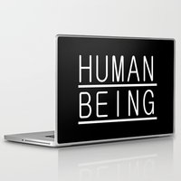 human Laptop & iPad Skins featuring Human by PsychoBudgie
