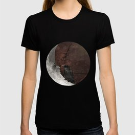 The crow and its moon. T-shirt