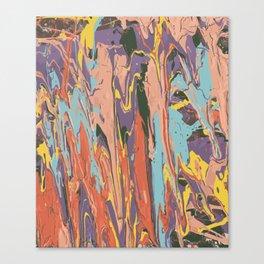 Baesic Primary Paint Drips Canvas Print