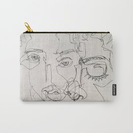 Blind Contour Carry-All Pouch