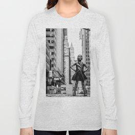 Fearless Girl New York City Long Sleeve T-shirt