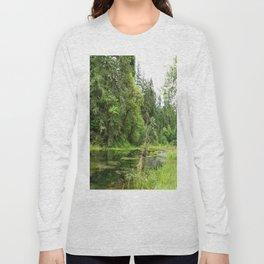Hoh Rainforest Scene Long Sleeve T-shirt