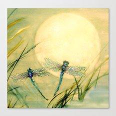 Dragonfly Moon  Canvas Print