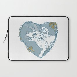 Triceratops Heart - Blue Laptop Sleeve