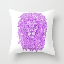 Violet Lion Throw Pillow