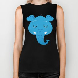 Sleepy Elephant Biker Tank