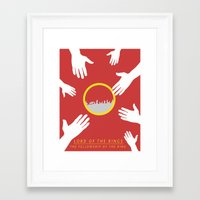 the lord of the rings Framed Art Prints featuring Lord of the Rings by KirstenJudkins
