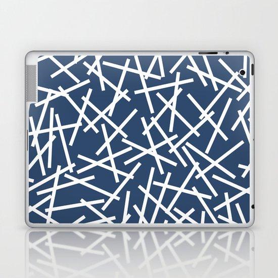 Kerplunk Navy and White Laptop & iPad Skin