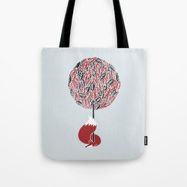 The guardian of the red tree Tote Bag