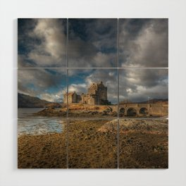 Eilean Donan Castle in Highlands of Scotland Wood Wall Art