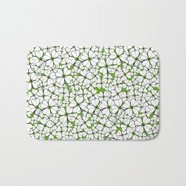 Line art - Clover : Green Bath Mat
