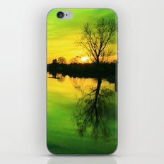 Emerald Green Twist on Sunset iPhone & iPod Skin