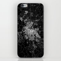 denver iPhone & iPod Skins featuring Denver map by Line Line Lines