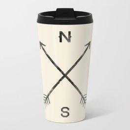 Compass (Natural) Metal Travel Mug