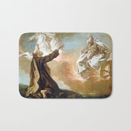 Giuseppe Angeli Elijah Taken Up in a Chariot of Fire Bath Mat