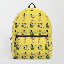 BROAD CITY ART MODEL WEED Censorship (yellow pattern) Backpack