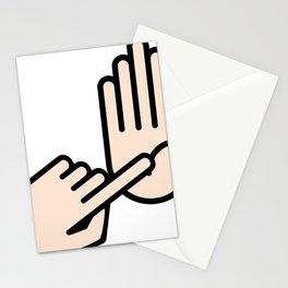 Lansing Michigan Hand Map Stationery Cards