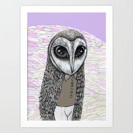 the barn owlman Art Print