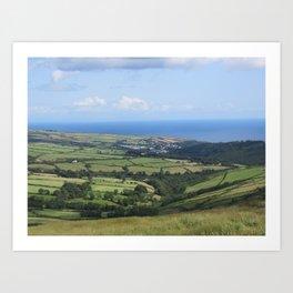 Moutain Road - Isle of Mann Art Print