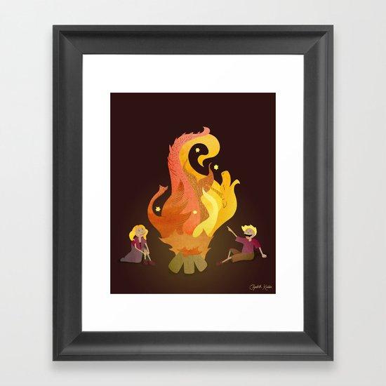 Campfire Magic Framed Art Print