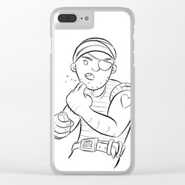 Stowaway Pirate - ink Clear iPhone Case