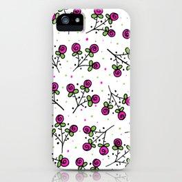 Rose Sprig Pattern iPhone Case