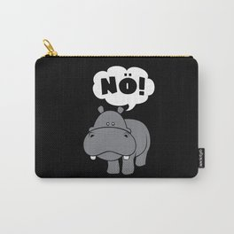 Hippo Insults No Bad Mood Hippopotamus Carry-All Pouch