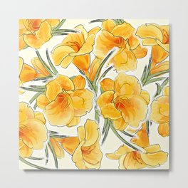 the daylily Metal Print